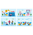 digital startup office life concepts set vector image