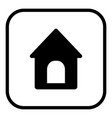 doghouse icon in square style vector image vector image