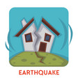 earthquake natural disaster isolated icon house vector image vector image