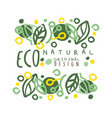 eco natural label logo graphic template original vector image vector image
