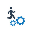 employee working icon vector image