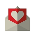 envelope with valentine heart vector image vector image