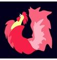 Fiery cock 2017 vector image vector image