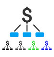financial hierarchy flat icon vector image vector image