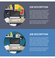 flat office vector image