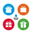 Gift box sign icon Present symbol vector image vector image