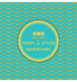 Golden and aqua trendy and stylish pattern vector image vector image