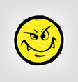 graffiti emoticon smiling face painted spray vector image vector image