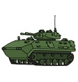 Green track armoured vehicle vector image