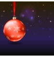 Greeting card with Christmas balls and bright vector image vector image