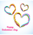 greeting valentines day template vector image vector image