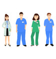 group doctors in a hospital flat design vector image