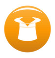 hat with napkin icon orange vector image vector image