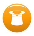 hat with napkin icon orange vector image