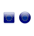 icons with flag european union vector image