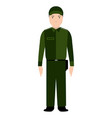 isolated police avatar vector image vector image