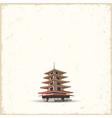 Japanese pagoda on grunge background