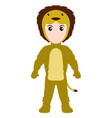 kid with a lion costume halloween vector image