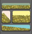 Leafy Business Cards Design Set vector image