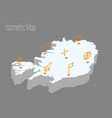 map iceland isometric concept vector image vector image