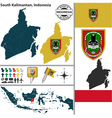 Map of South Kalimantan vector image vector image