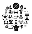 medic icons set simple style vector image vector image