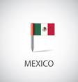 mexico flag pin vector image vector image
