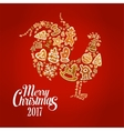 New Year rooster symbol with Christmas gingerbread vector image vector image