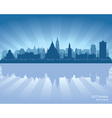 Ottawa Canada skyline silhouette vector image vector image