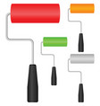 paint roller set vector image vector image