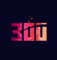 pink blue background color number 300 for logo vector image vector image