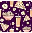 Purple Pink Pajama Party Movie Night Food vector image
