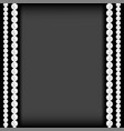 realistic natural white pearl frame vector image