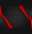 red and black geometric abstract on background vector image vector image