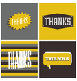 retro design thank you greeting cards vector image vector image