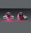 ring with gem vector image vector image