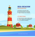 rock stones island with lighthouse on it marine vector image vector image