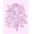Roses color drawing vector image vector image