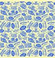 rugteam seamless pattern vector image