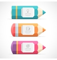 Set of colorful pencil banners vector image