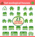 set of ecological houses of varying complexity vector image vector image