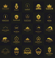 set of luxury hotel logos and emblems logo vector image vector image