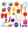 set sport icons vector image vector image
