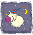 sheep in a cap vector image