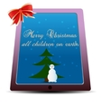 Simple flat Christmas card vector image vector image