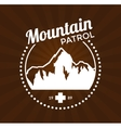Ski Resort Logo vector image vector image