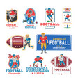 soccer logo footballer or soccerplayer vector image vector image