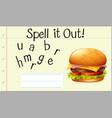 spell english word hamburger vector image vector image