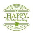 St Patricks Day Emblem vector image vector image