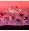 summer holidays beach scene background vector image vector image
